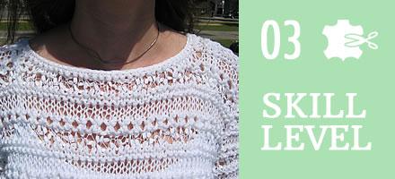 HKP50 – Ladies Summer White Sweater [Sample]